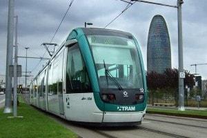 Tramway public transport barccelona