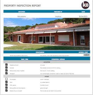 Home inspection Barcelona